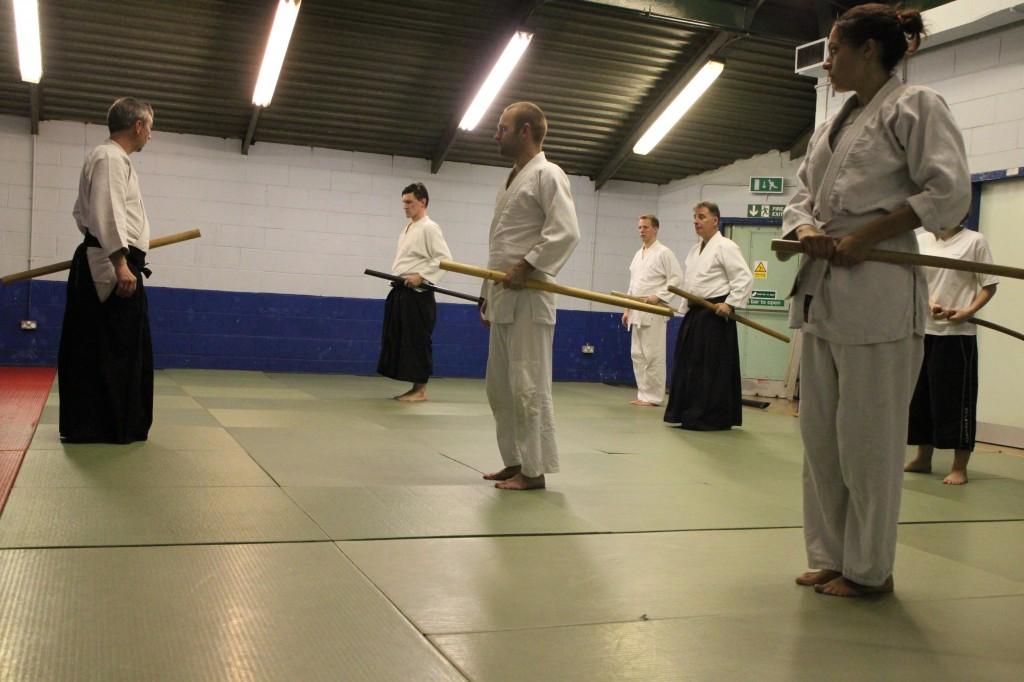 Weapons practice (bokken) with Sensei McGill.