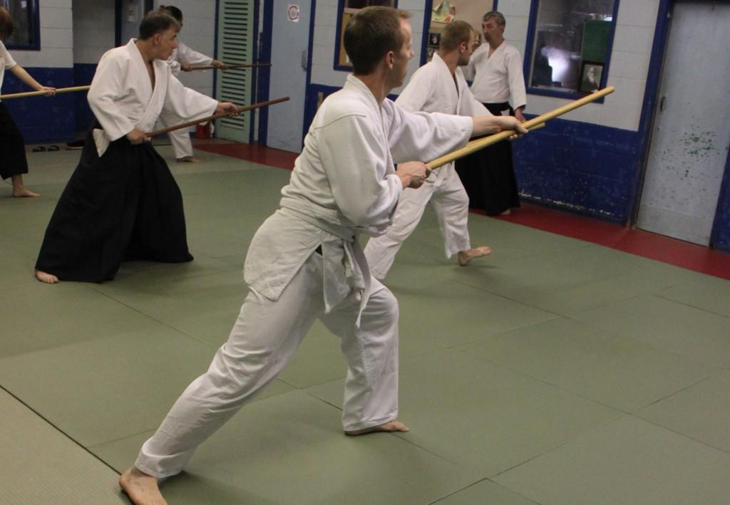 Aikido weapons class